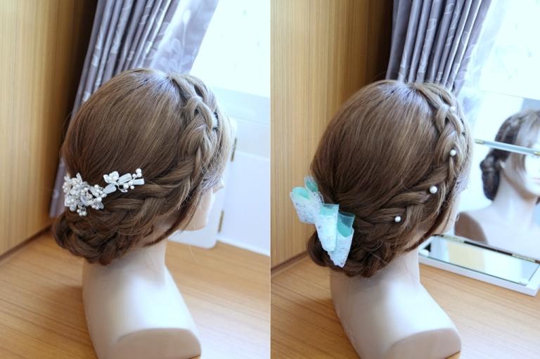 新娘三股辮盤髮 婚禮髮型教學