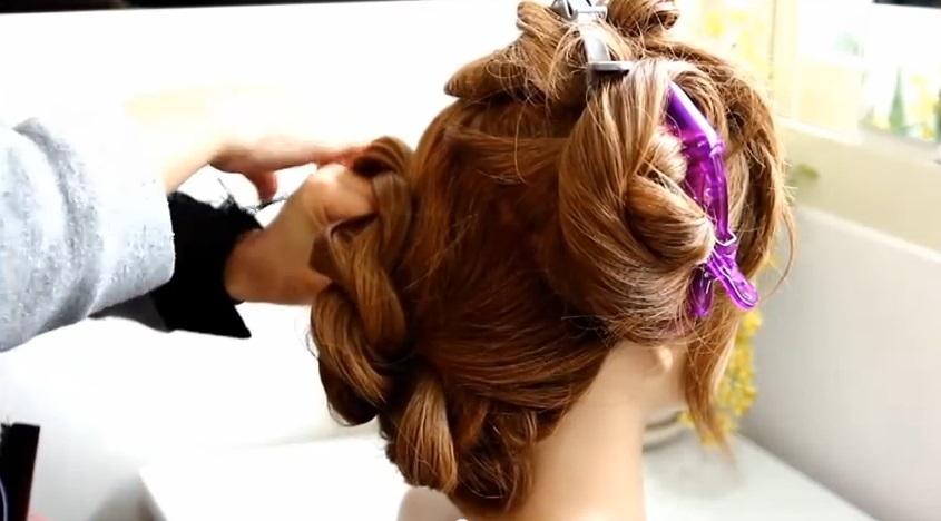 蓬鬆二股扭轉編髮 盤髮教學