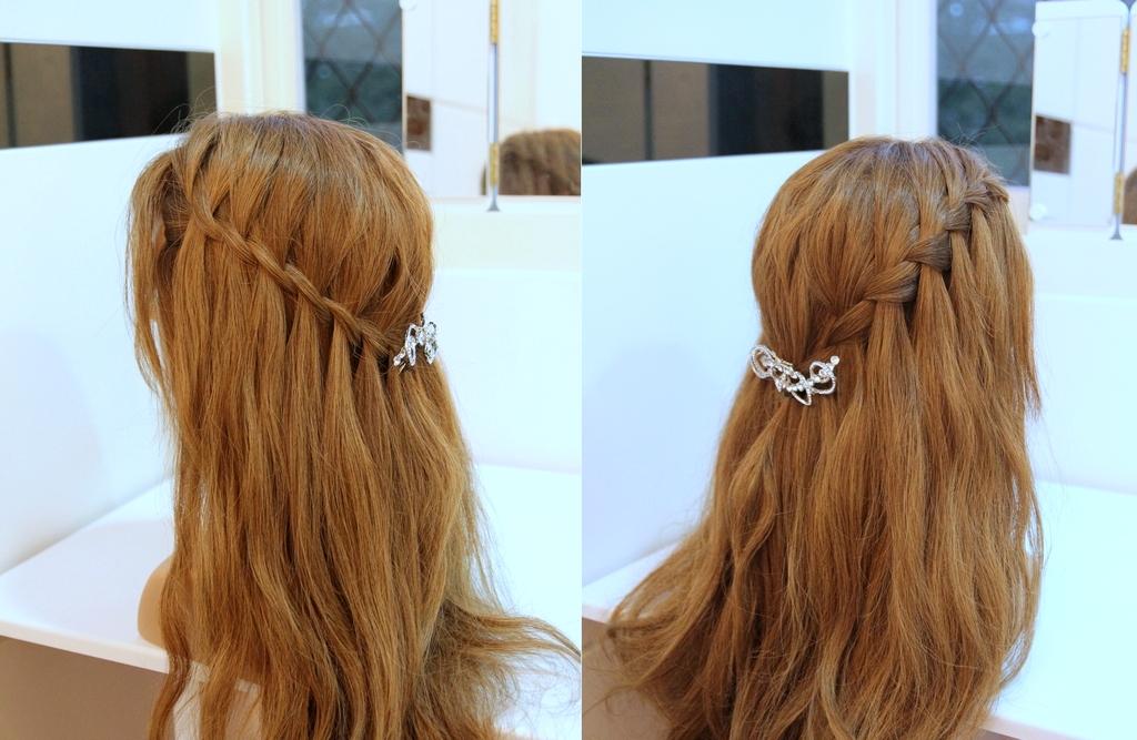 2款浪漫瀑布編髮 髮型教學