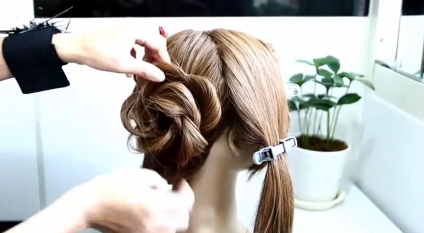 玫瑰花側編髮 髮型教學