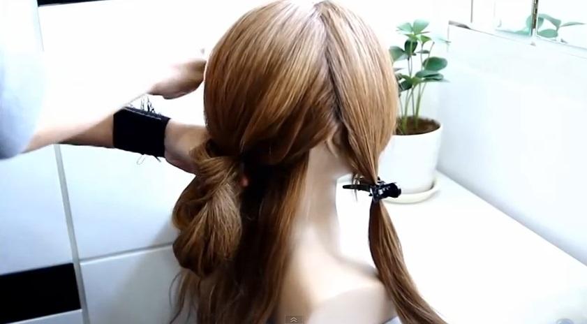 韓式低盤髮