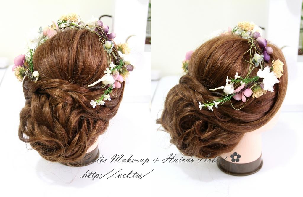 新娘髮型三股辮線條式 盤髮教學