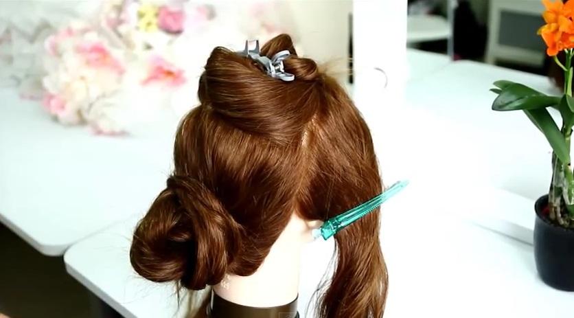 新娘造型 優雅蓬鬆線條髮型教學