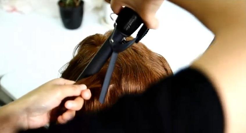 復古風水波紋髮型教學