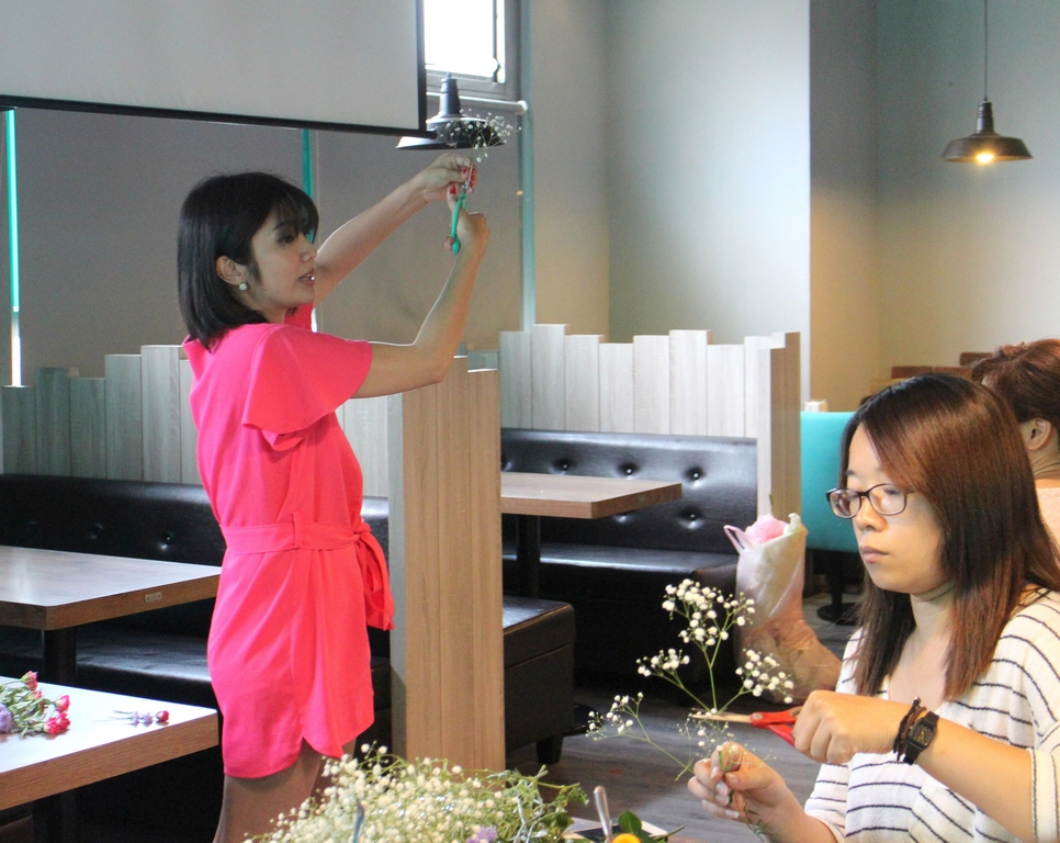 鮮花飾品教學