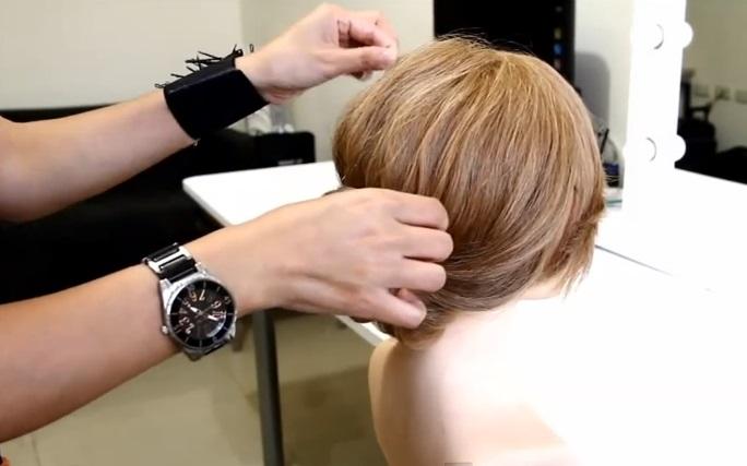 簡易三股辮盤髮教學