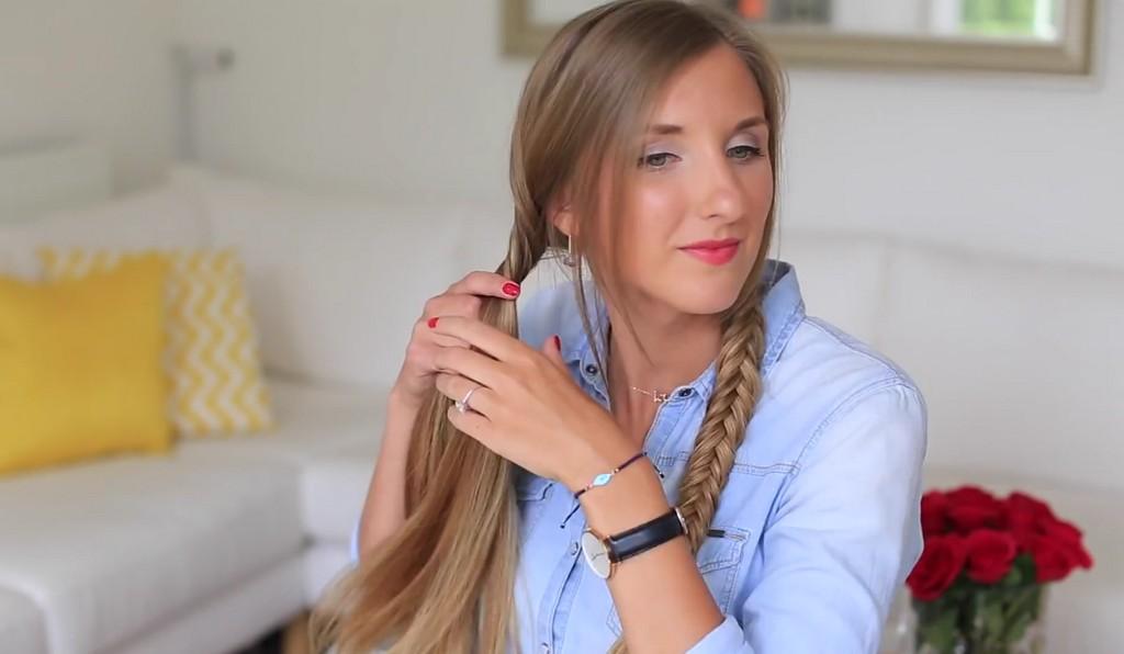 歐美風格編髮教學影片Luxy Hair05
