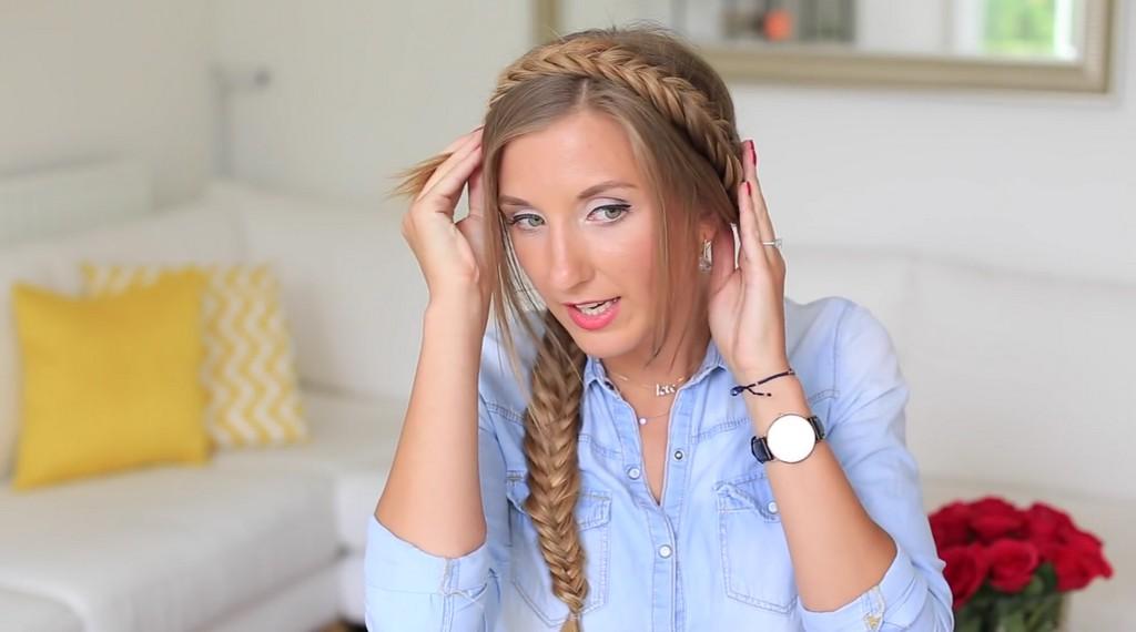 歐美風格編髮教學影片Luxy Hair06