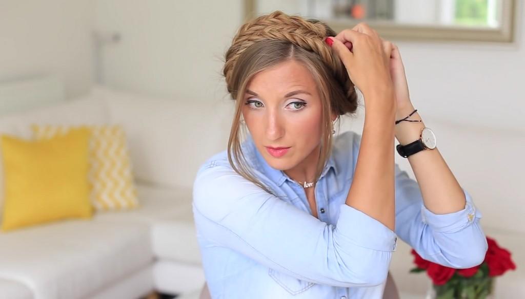 歐美風格編髮教學影片Luxy Hair07