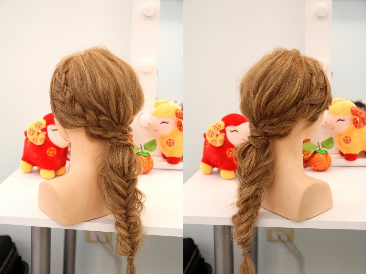 簡單低馬尾髮型教學