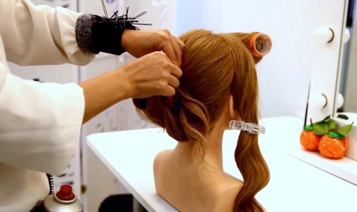 新娘盤髮教學