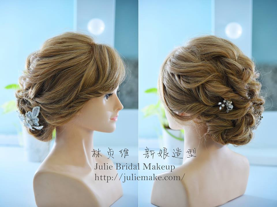 林貞維|盤髮|新娘造型