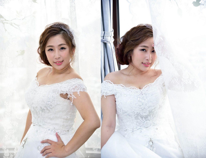 新娘髮型雪碧 半罩式面紗