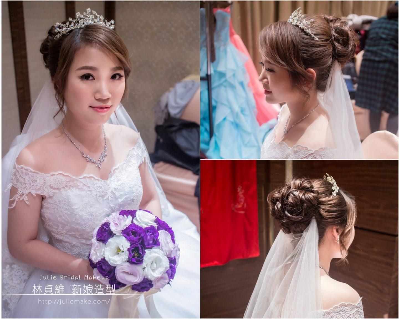新娘造型花苞頭