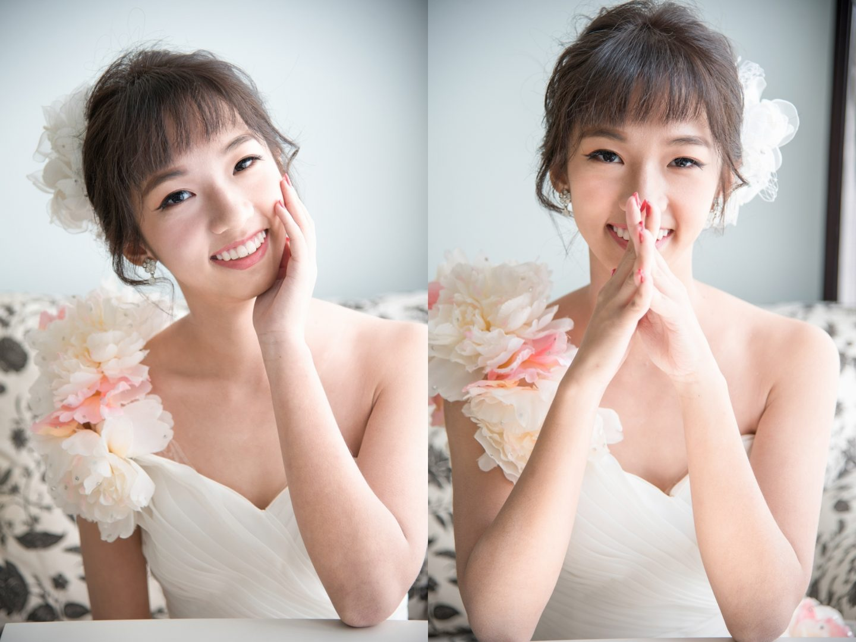 新娘造型 甜美花苞頭髮型