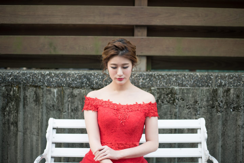 短髮新娘禮服造型 Yumi