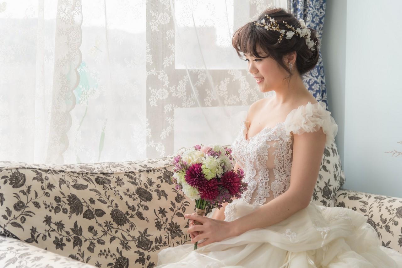 新娘髮型造型 芝萱