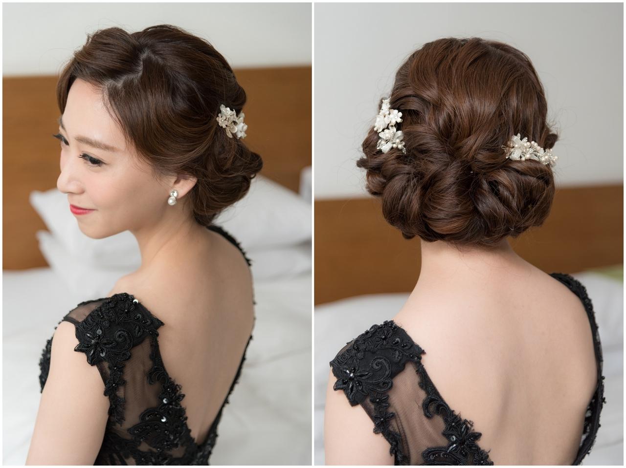 新娘造型 復古波浪髮型