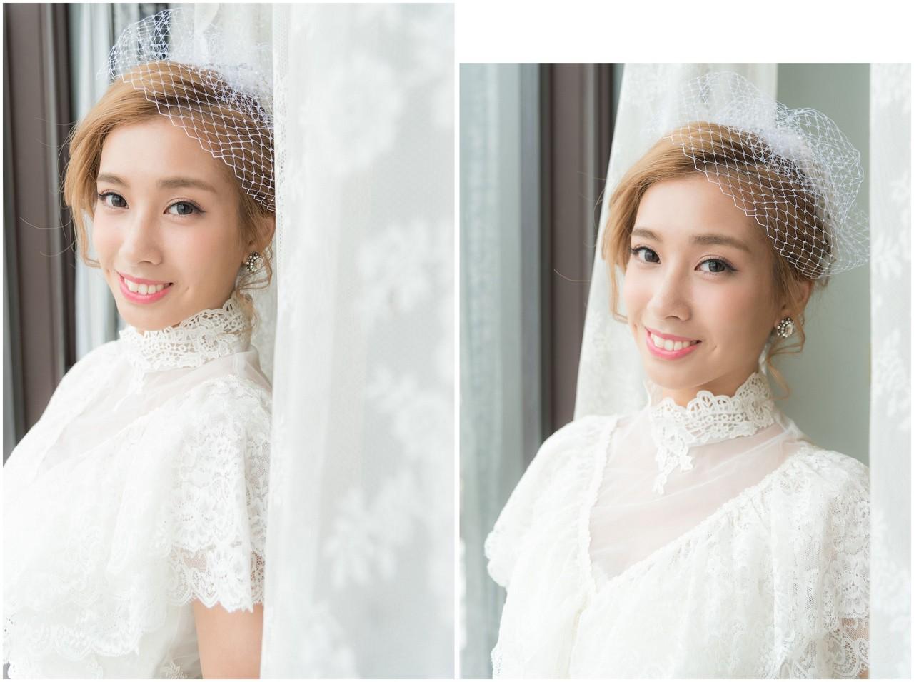 小麥肌新娘造型