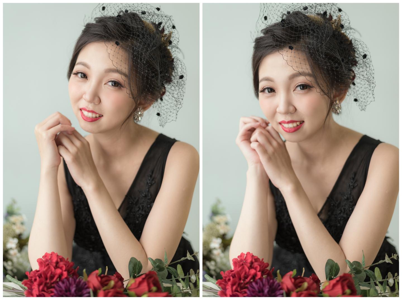 新娘造型 自然光澤透亮妝感 蓬鬆空氣感髮型