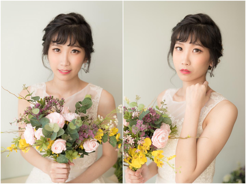 新娘造型 白紗妝髮風格 怡葶