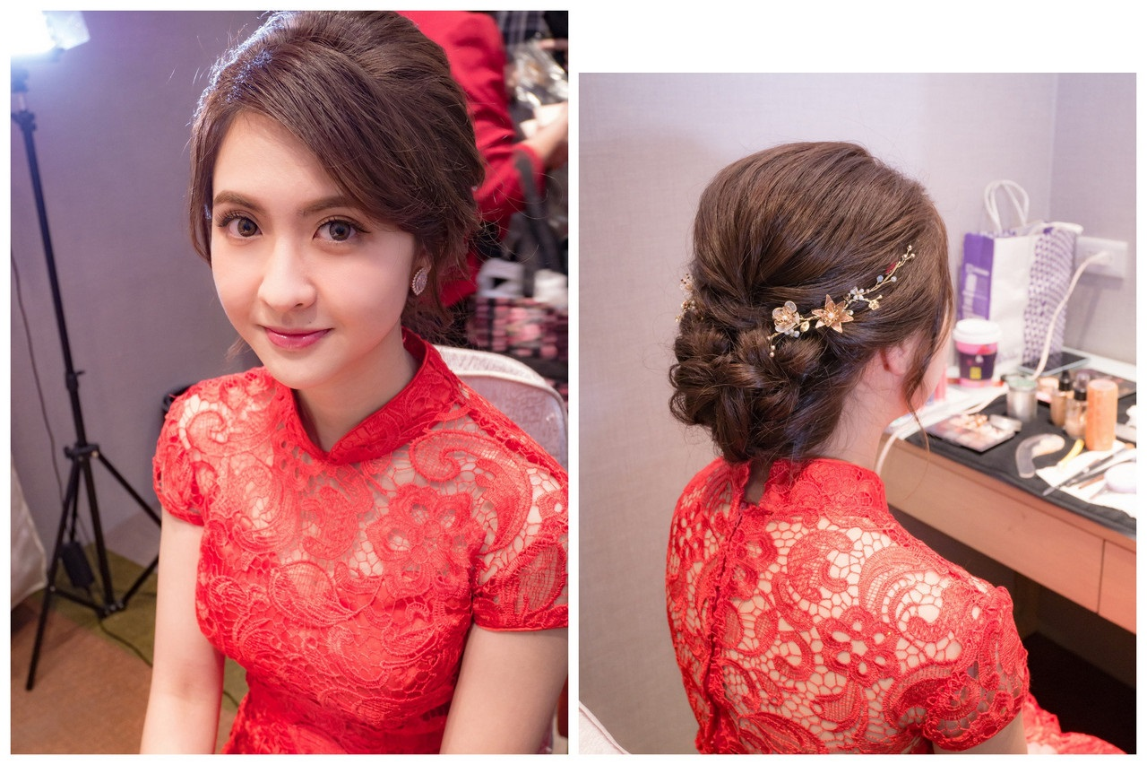 新娘秘書婚宴造型 婉約盤髮 詠佳