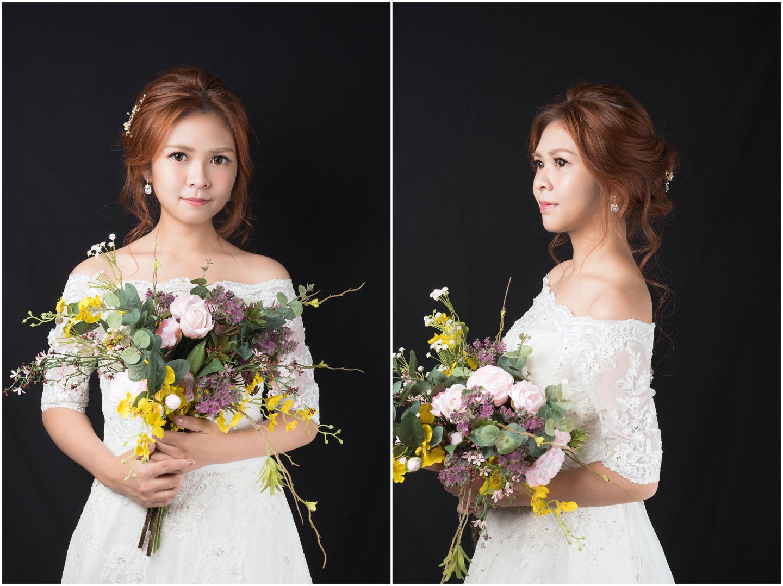 新娘秘書髮型練習 線條感盤髮浪漫編髮