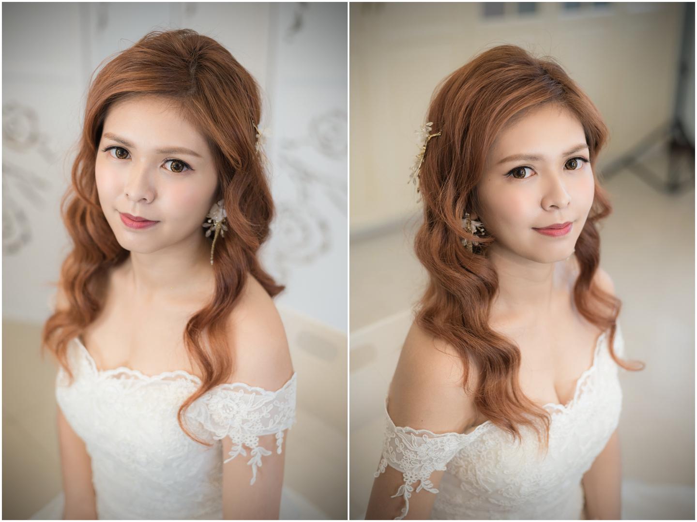 新娘浪漫抽絲髮型 讓髮飾在編髮上跳躍