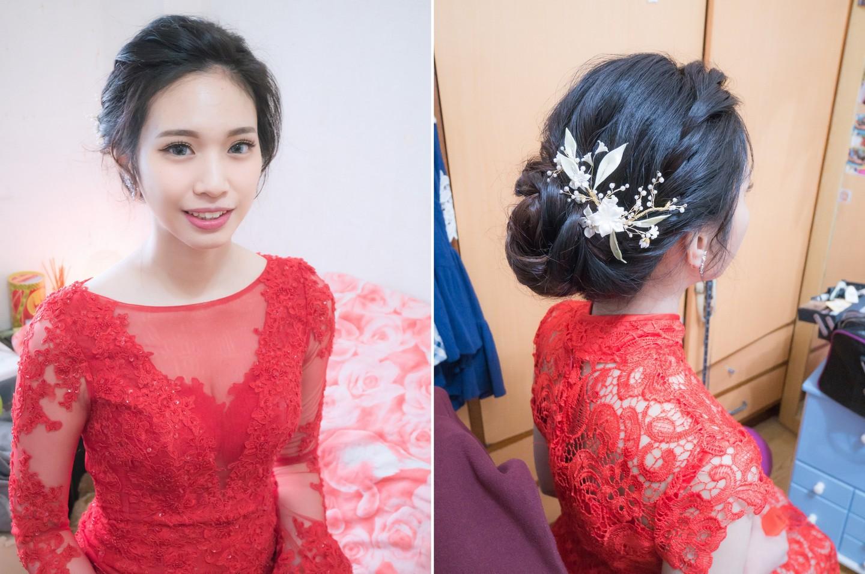 台北新娘秘書 林口好日子婚宴 念心新娘造型