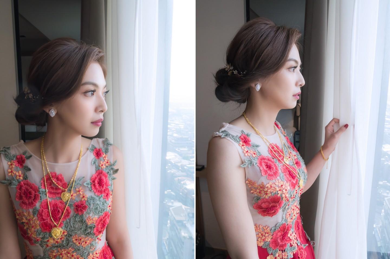 新娘秘書髮型 台北市凱達飯店婚宴儀式 TORY