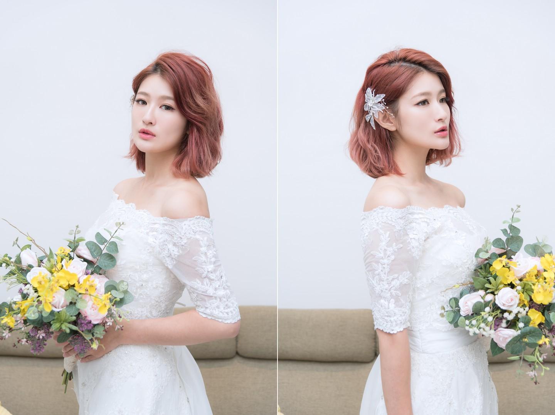 短髮新娘造型2018 輕盈俐落造型感打造不同婚禮的感受