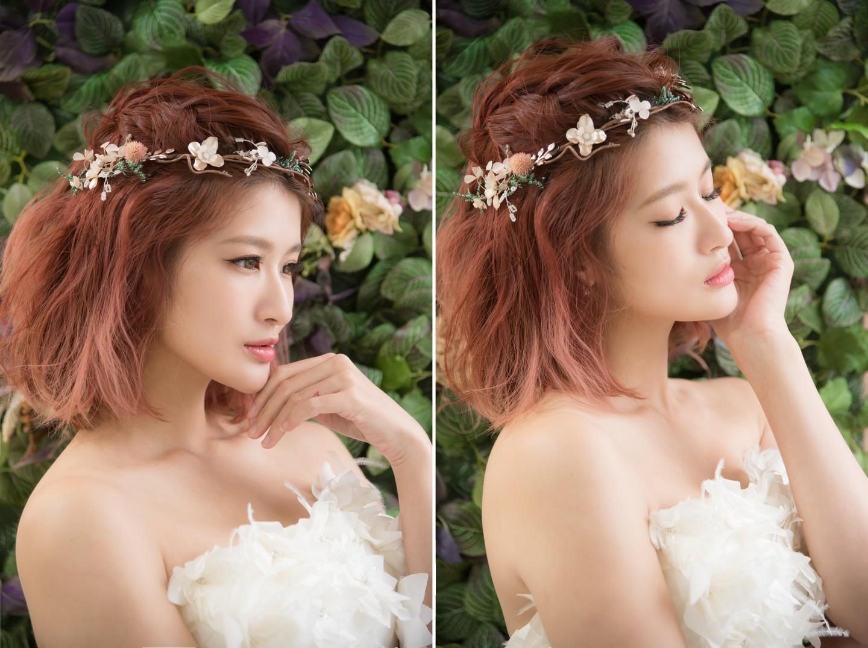 短髮新娘造型 森林仙子花冠 唯美浪漫