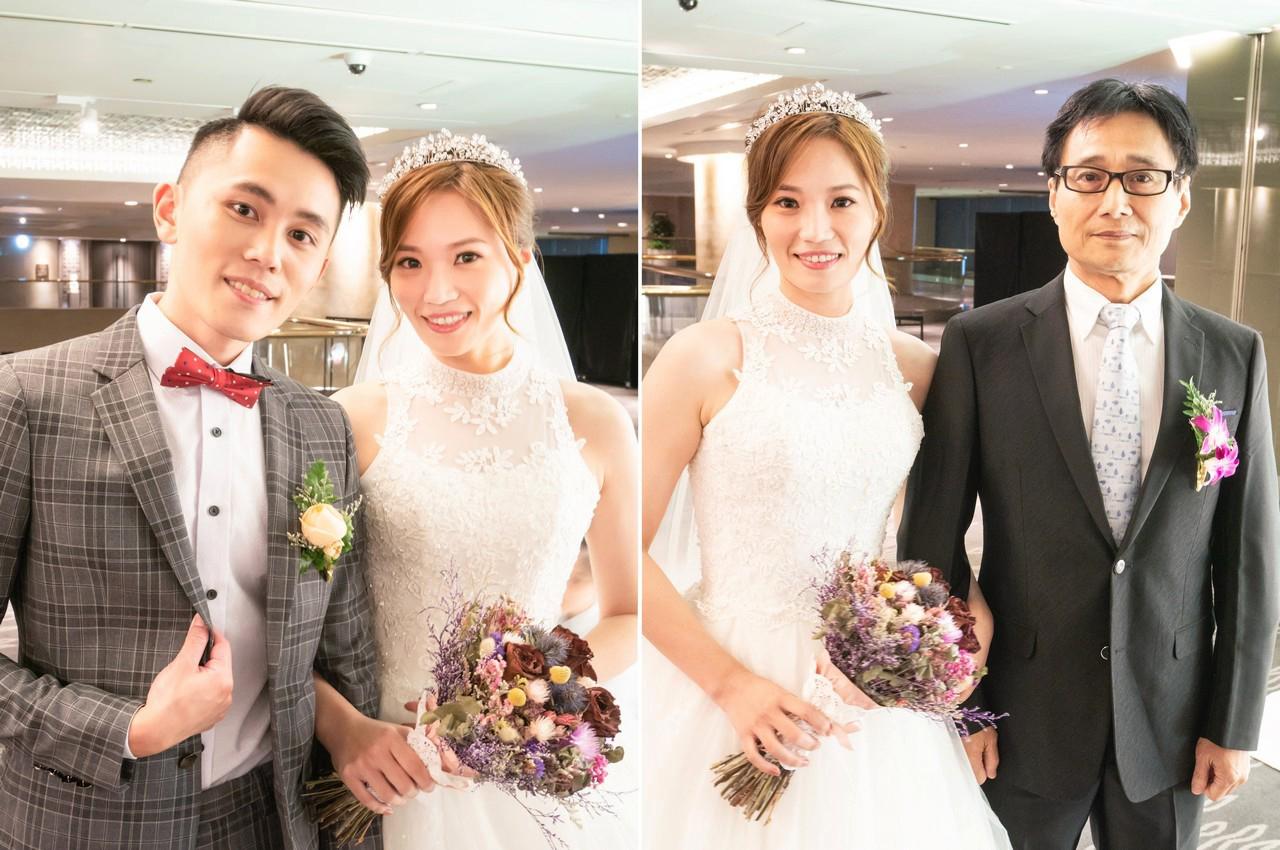 新娘造型編髮造型 輕盈俐落瀏海 輕透幸福妝感