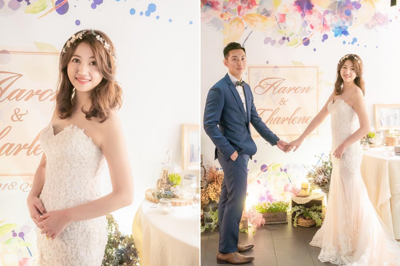 婚紗婚宴髮型2018 甜美可人俏皮 輕裸透妝感