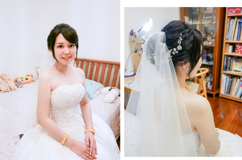 婚禮造型 絕美新娘的誕生 中和永和板橋新秘推薦