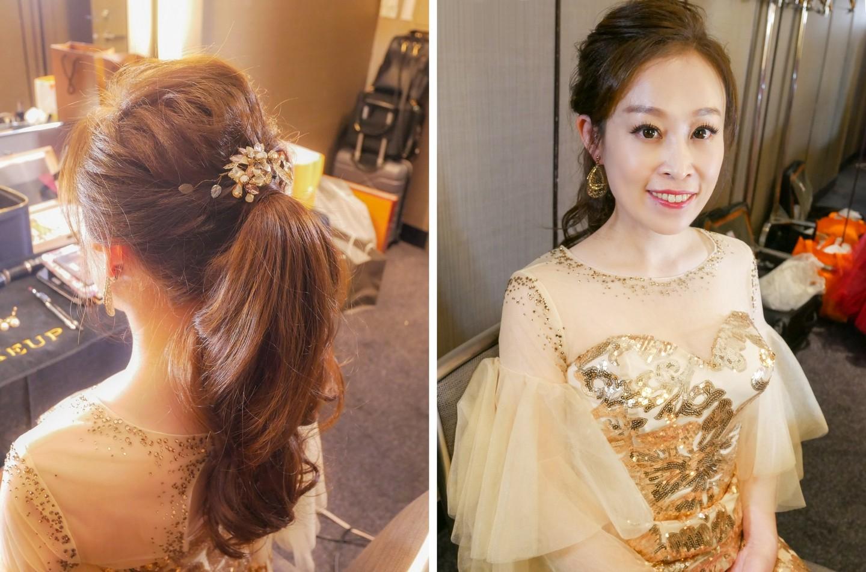 新娘白紗造型 典雅簡約絕美髮型 裸透妝感