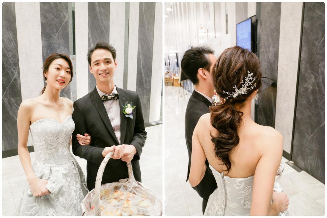 新娘午宴三造型 白紗晚禮服髮型 桃園八德彭園會館