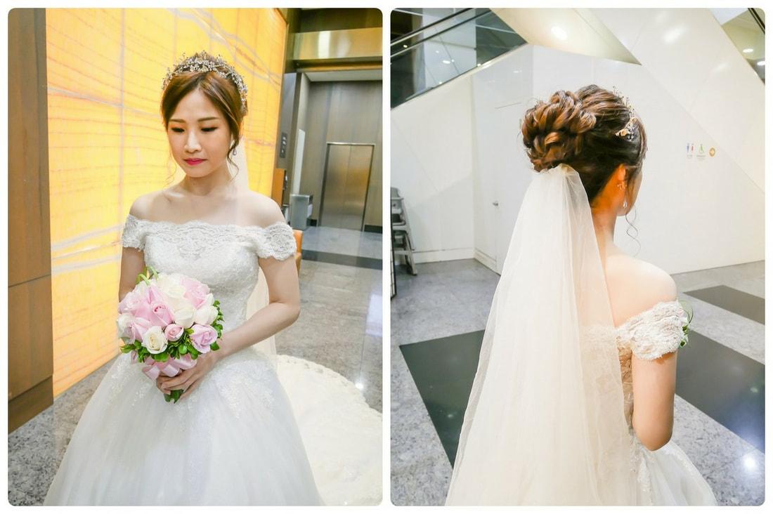 新莊泰山新娘秘書推薦 氣質優雅新娘髮型造型