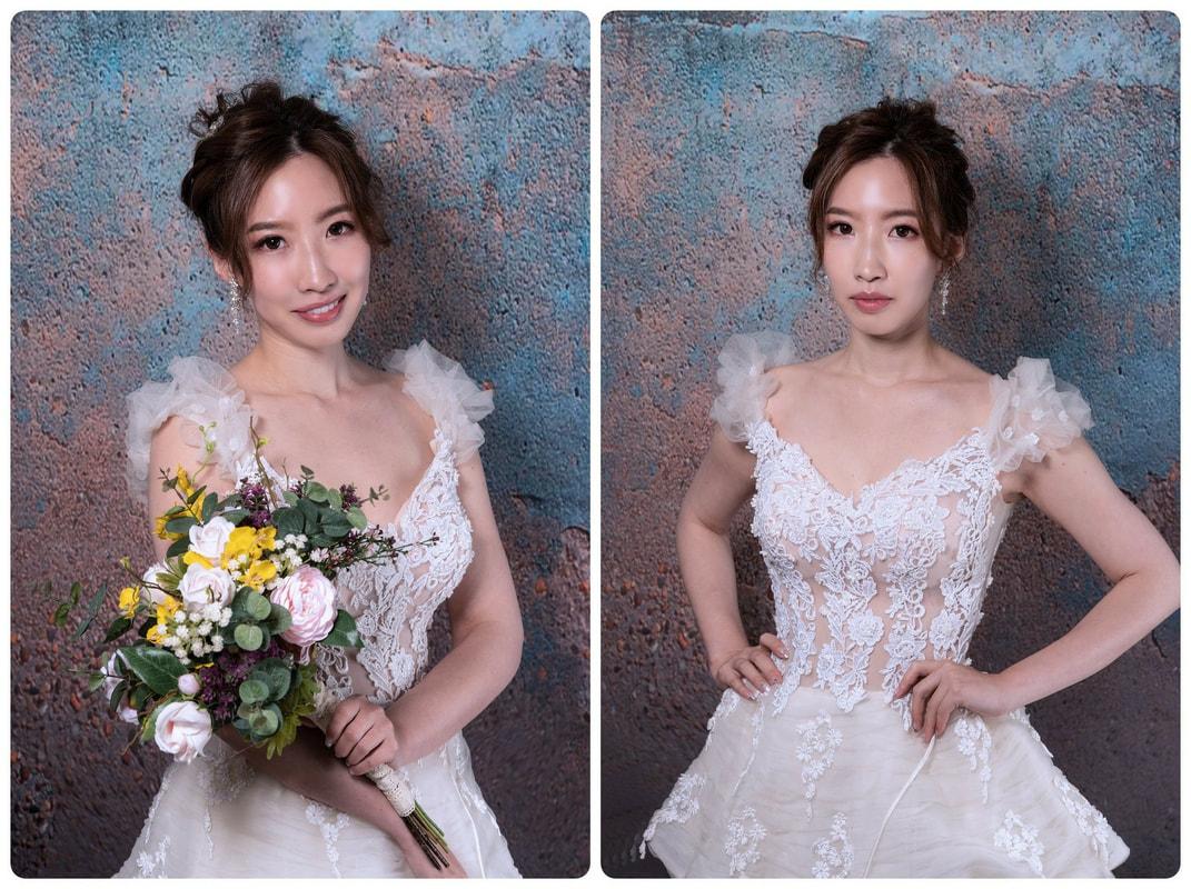 新娘造型基礎版教學 畢業作品集拍攝