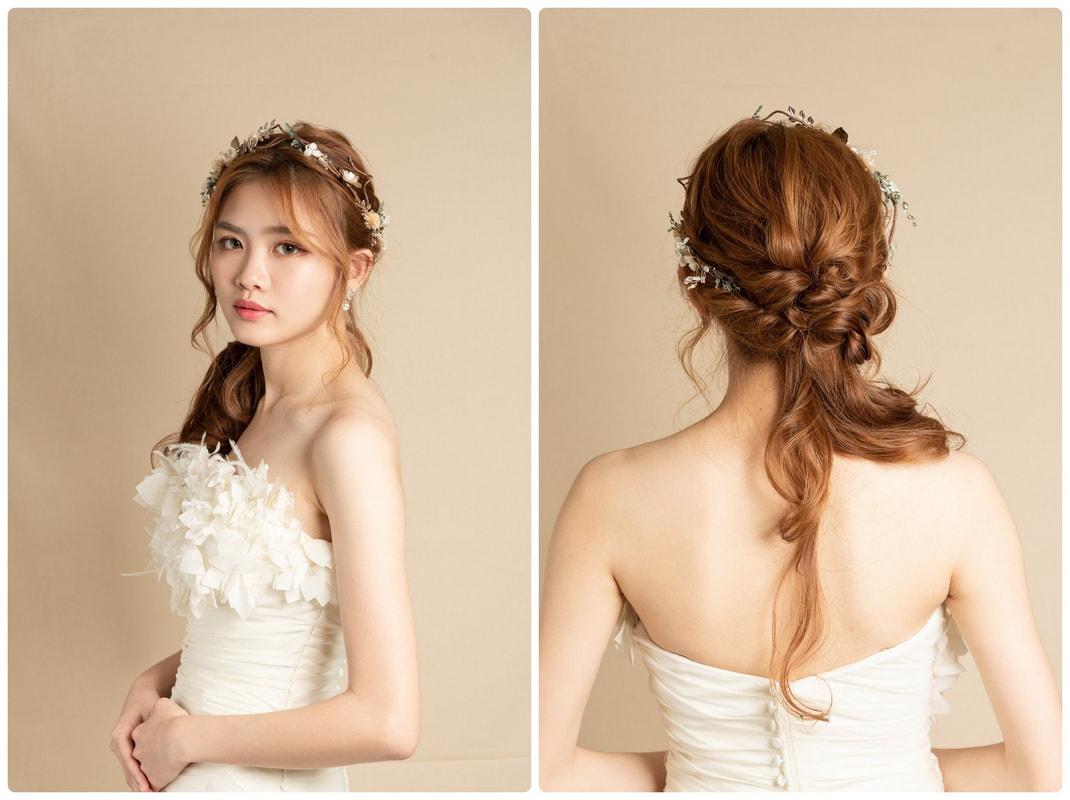 新娘秘書髮型短期課程成果作品集 紀錄努力的結晶