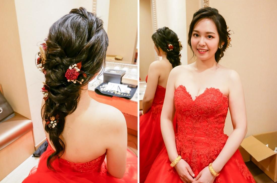 婚禮造型髮型 甜美新娘Vicky 中和永和板橋新秘推薦