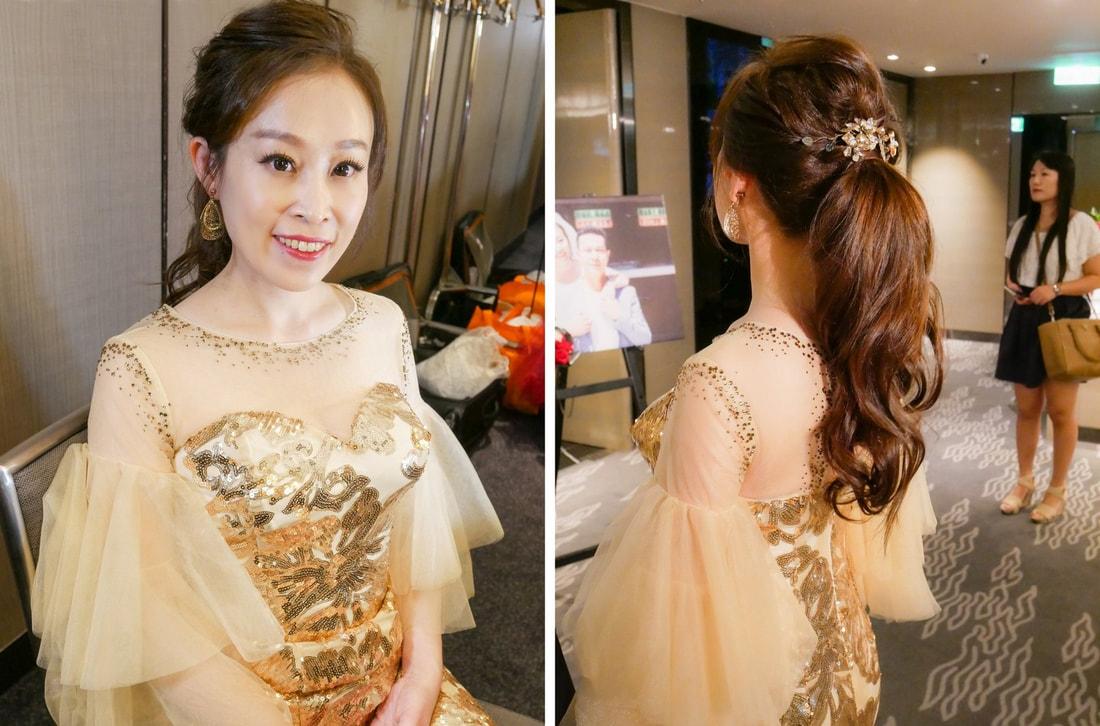 新娘造型 白紗禮服儀態萬千 整形醫師 April