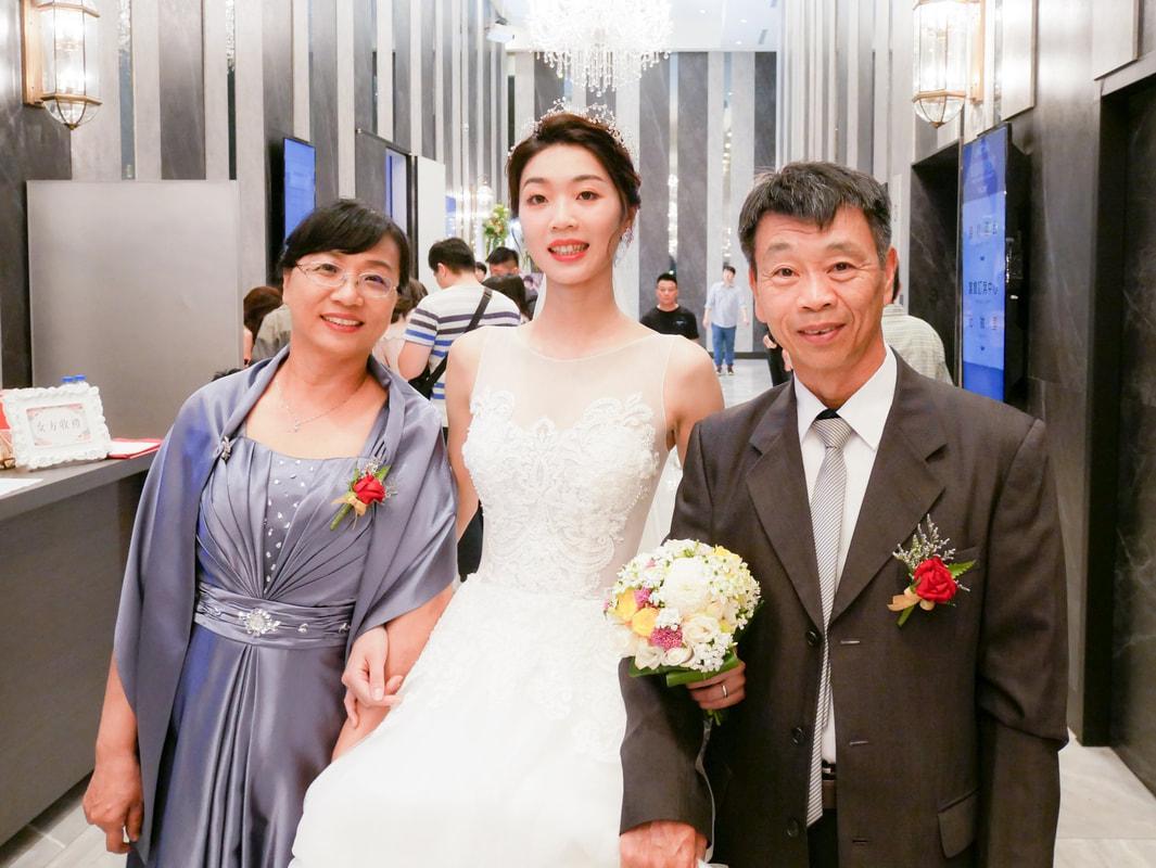 新娘秘書工作紀錄 新娘三造型白紗禮服 桃園八德彭園會館