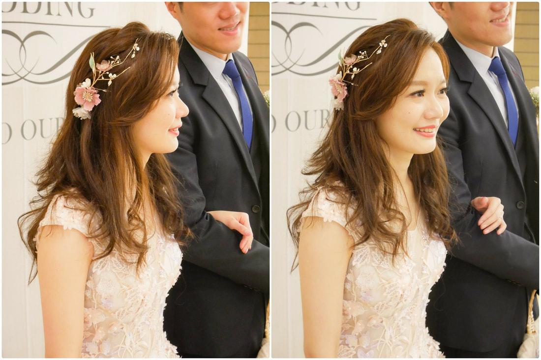 新娘髮型設計 輕盈甜美風格 淺淺一抹微笑